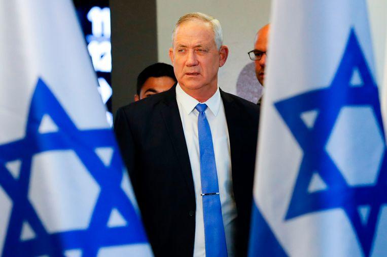 Oud-generaal Benny Gantz slaagde er ook niet in om een nieuwe regering te vormen. Hij voelt niets voor een grote coalitie met Netanyahu. Beeld null