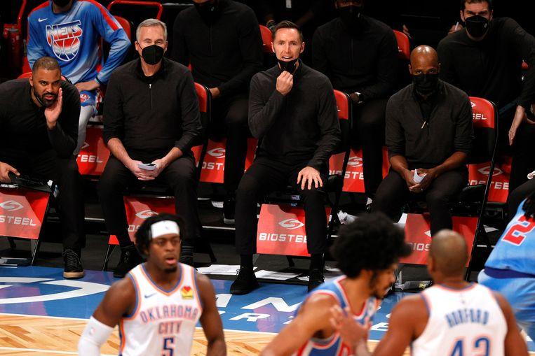 Ook de Amerikaanse basketbalcompetitie kreeg te maken met een uitbraak van het coronavirus.   Beeld Getty Images