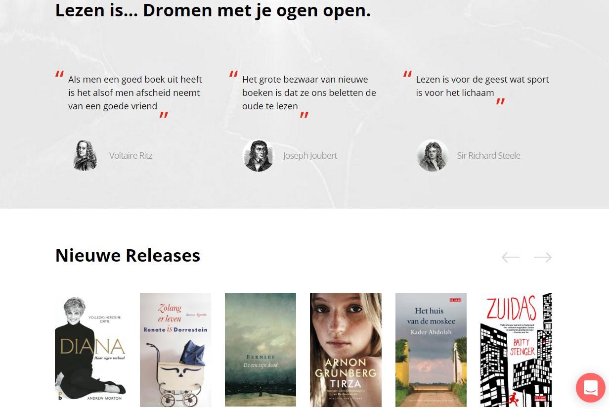 Een beeld van de website van Magboox.nl.