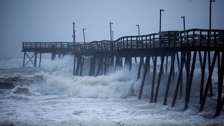 De kust van North-Carolina: de orkaan Irene is aan land gekomen. © FOTO EPA Beeld