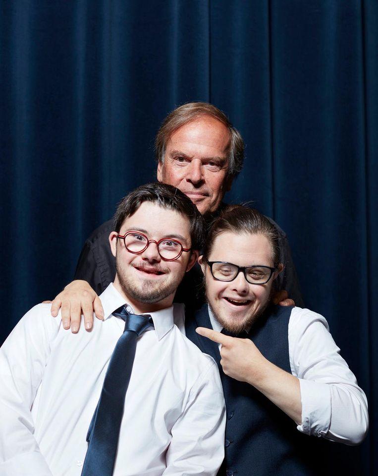 Ivo Niehe met Rutger Messerschmidt (l) en Nando Liebregts. Beeld Erik Smits