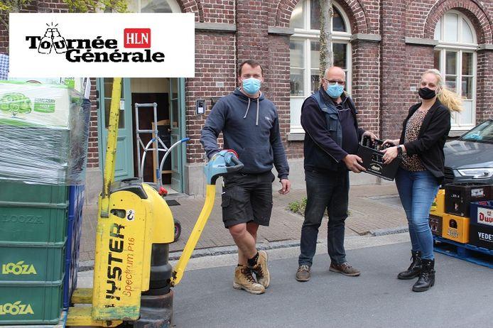 Drankenhanden De Fruyt kwam dinsdag leveren bij Lisa Andries van Brasserie Lijn 58.