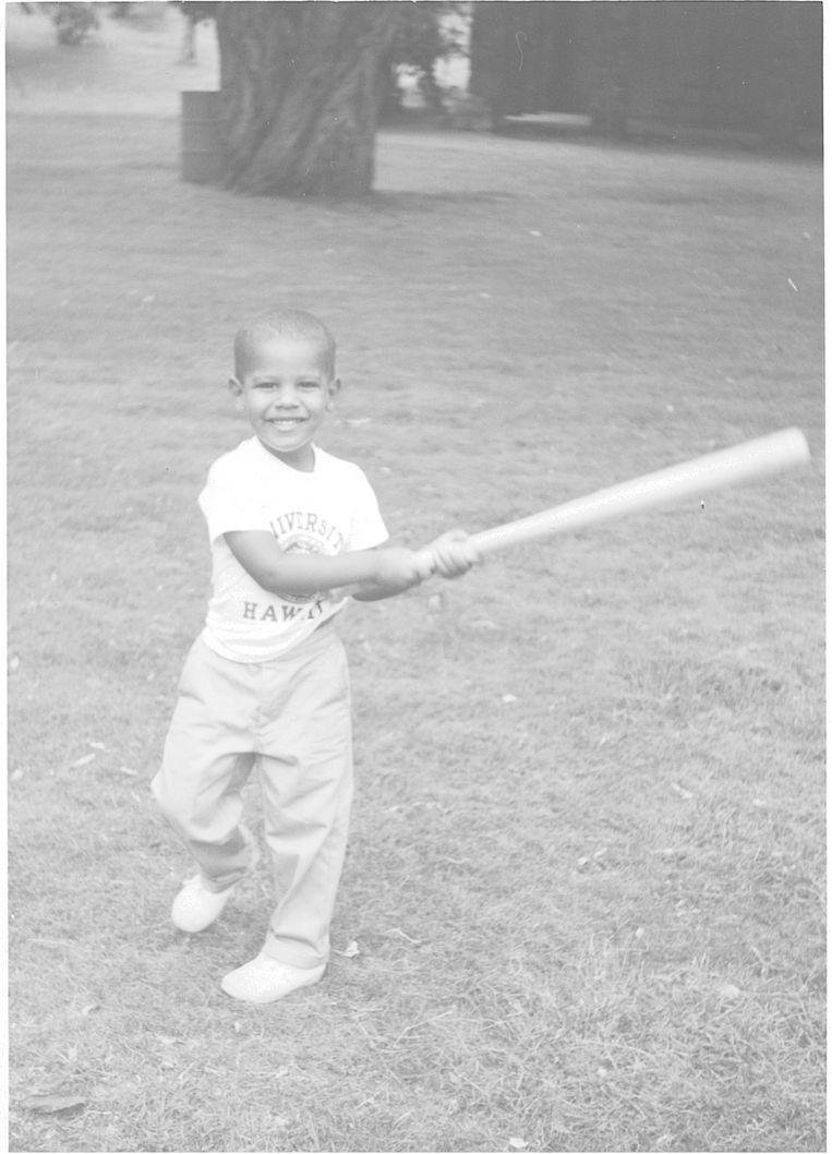 De jonge Barack Obama. Beeld Familiearchief Obama-Robinson