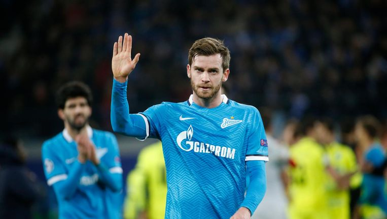 Nicolas Lombaerts zegt Zenit Sint-Petersburg na tien seizoenen vaarwel. Beeld photo_news