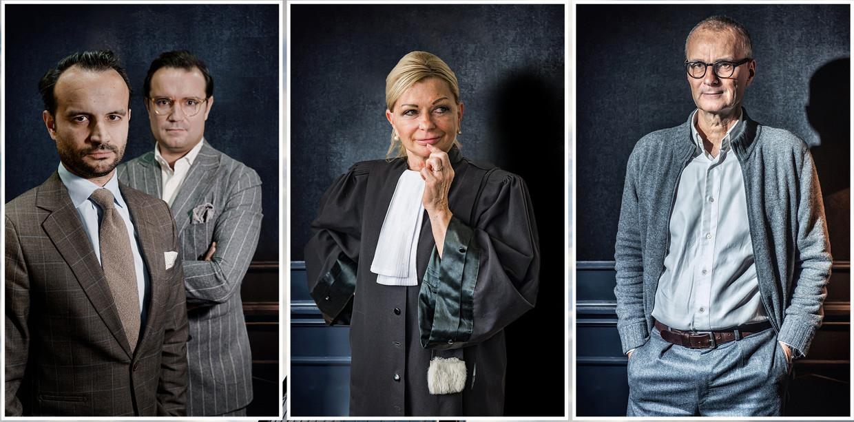 Omar en Mounir Soudi, Liliane Verjauw en Hans Rieder.  Beeld Humo