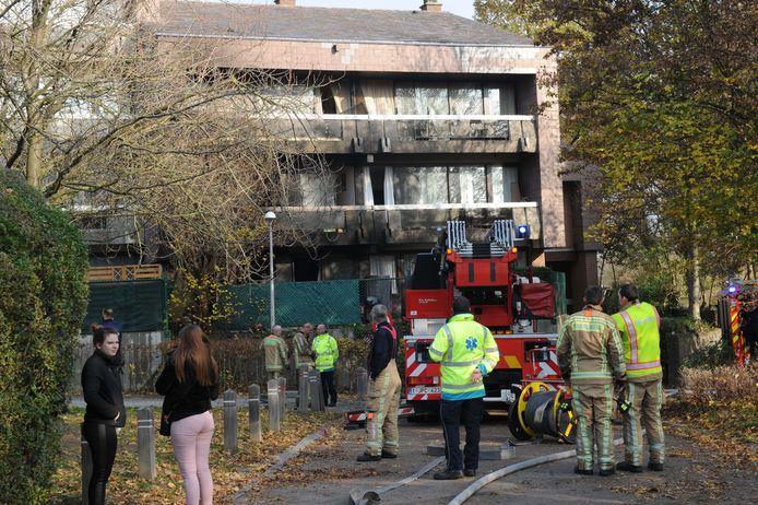 Een brand in een appartementsgebouw in Grimbergen.