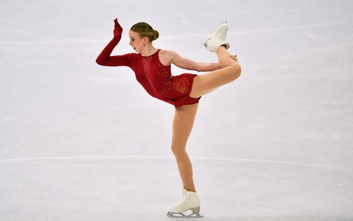 Lindsay van Zundert in actie in de finale van het WK in Stockholm.