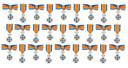 Onderscheiding Lid in de Orde van Oranje-Nassau.