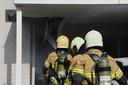 Brand bij een hoekwoning aan de Klopschouw in Oss.