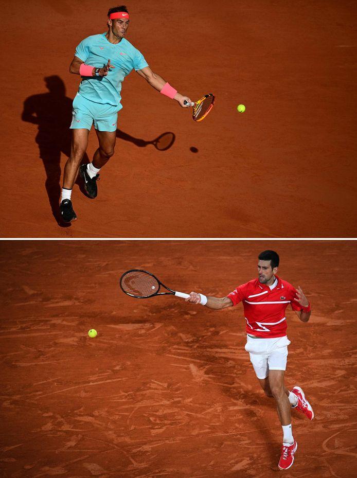 Rafael Nadal en Novak Djokovic.