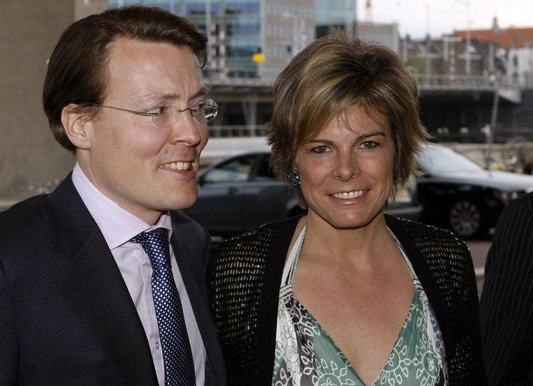 Prins Constantijn (l) en prinses Laurentien. Foto ANP/Marcel Antonisse Beeld
