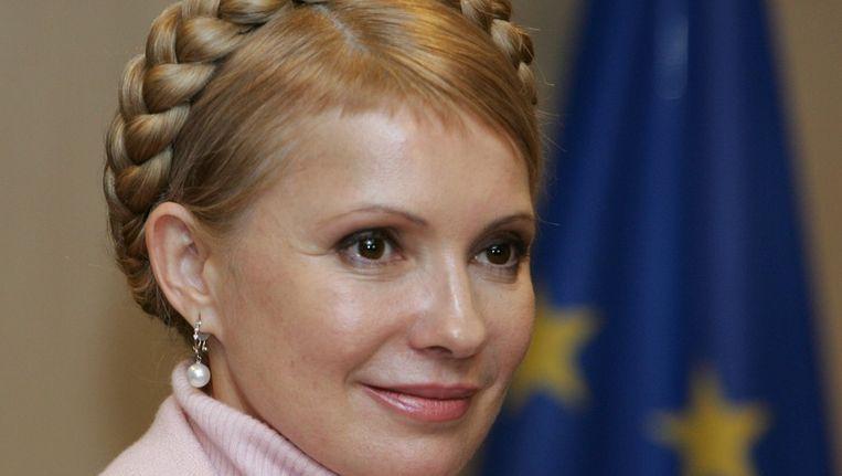 Archieffoto van de ex-premier Joelia Timosjenko Beeld afp