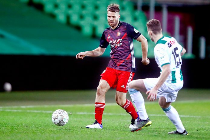 Bart Nieuwkoop speelde woensdagavond met 0-0 gelijk met Feyenoord bij FC Groningen, in zijn honderdste profwedstrijd.