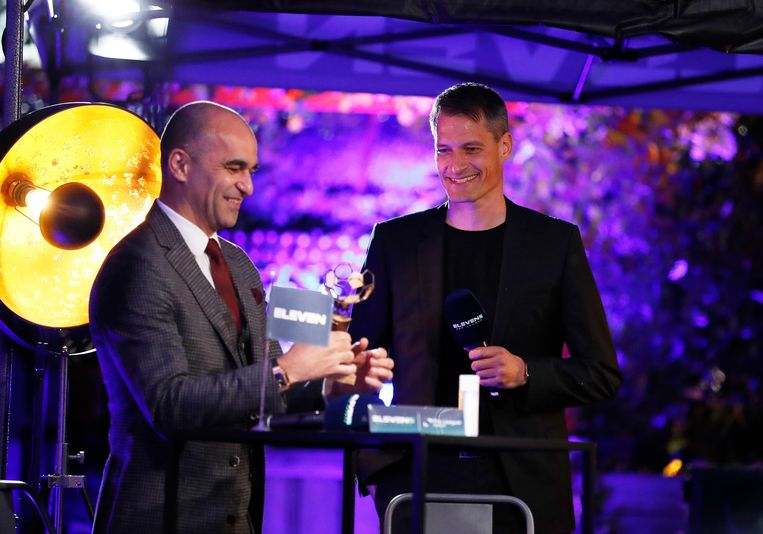 Roberto Martinez en Alexander Blessin. Beeld Photo News
