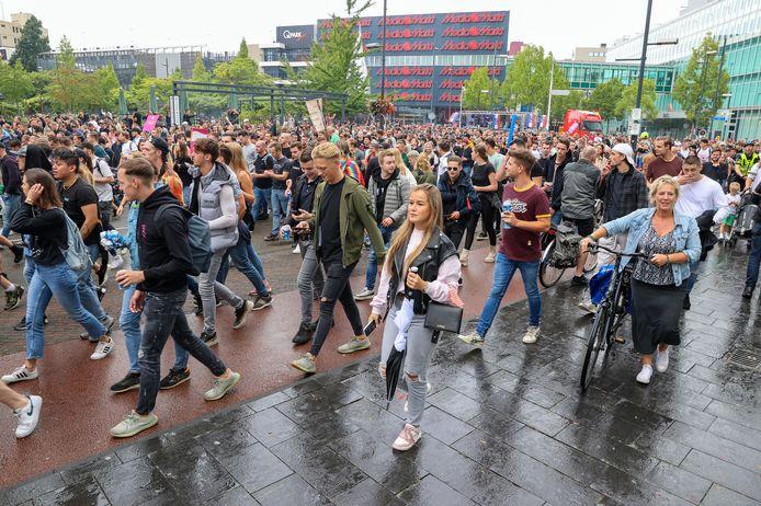 De demonstratie Unmute Us in Eindhoven.