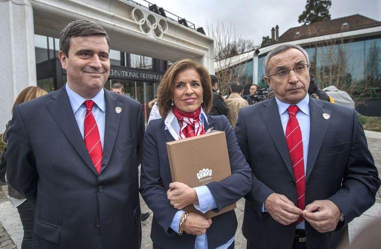Voor Madrid maakten de drie Spaanse IOC-leden, onder wie Juan Antonio Samaranch junior, de verplaatsing. Beeld AFP