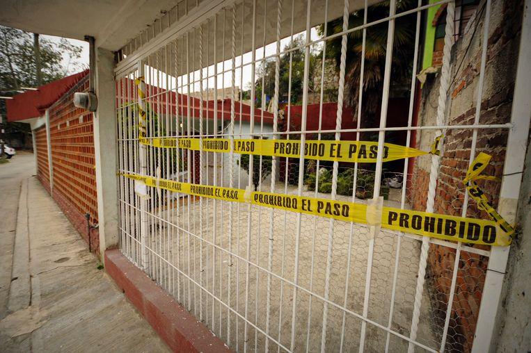 Het huis van journaliste Regina Martínez in Xalapa. De lokale politie 'vernietigde' er alle vingerafdrukken.  Beeld Rubén Espinosa / Forbidden Stories