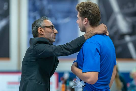 Dreamfields-coach Chris Stomp, hier tegen Delft.
