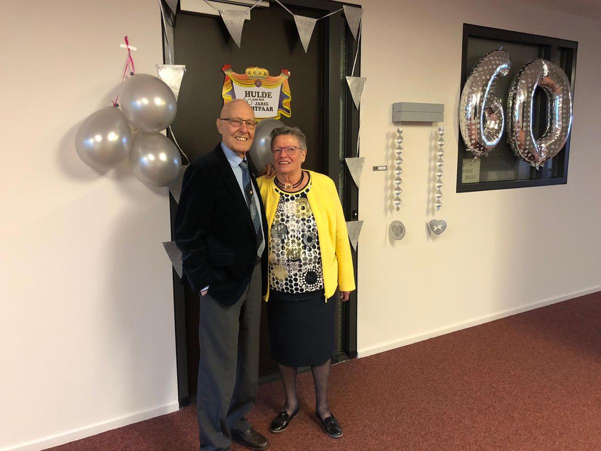 Piet en Annie Maas, 60 jaar getrouwd.