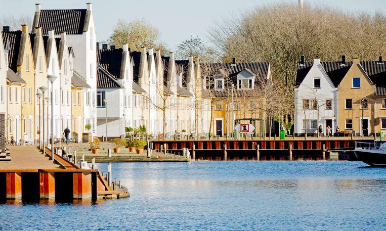 De wijk Nieuw-Vreeswijk, met de sfeer van een Scandinavisch vissersdorpje.  Beeld Johan Nebbeling