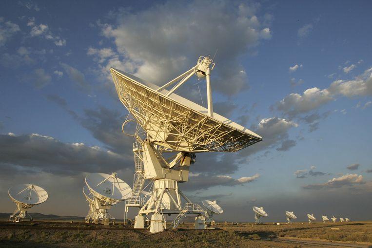 De Very Large Array, een verzameling radiotelescopen in New Mexico, Verenigde Staten Beeld AFP
