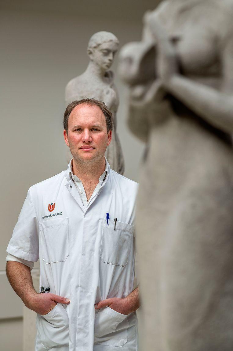 Jonathan Coutinho, neuroloog in het AMC. Beeld  Guus Dubbelman / de Volkskrant