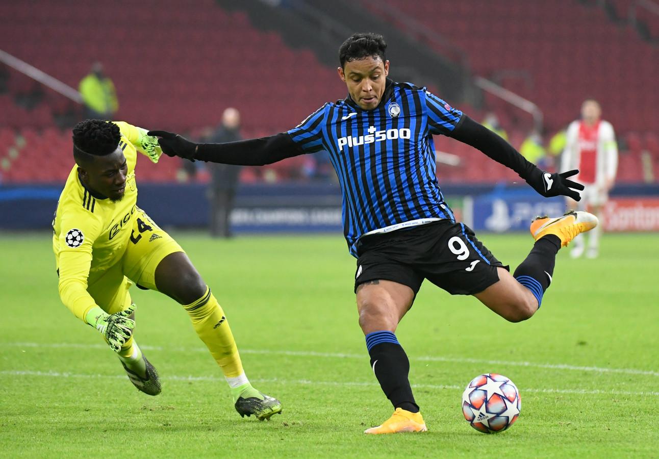 Dankzij een doelpunt van Luis Muriel won Atalanta het pouleduel van de CL in Amsterdam begin dit seizoen.
