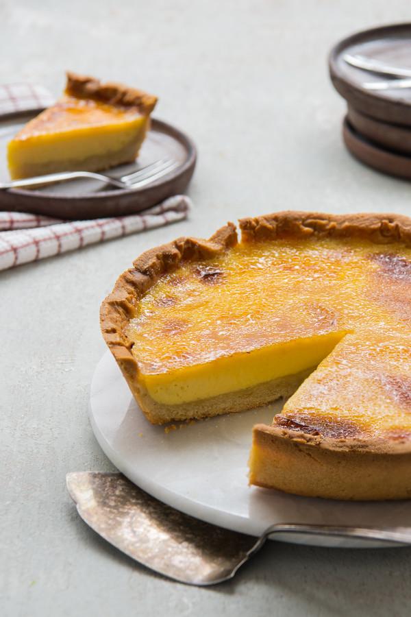 Crème brûlée-taart