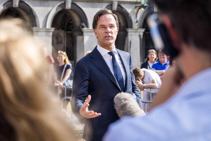 Nederlands ontslagnemend premier Mark Rutte.