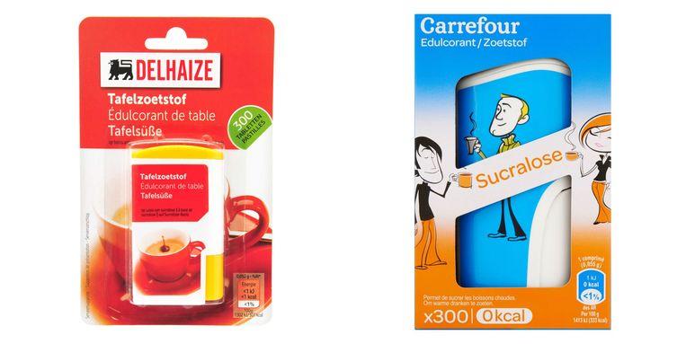 Tafelzoetstof Delhaize - Sucralose Carrefour Beeld rv