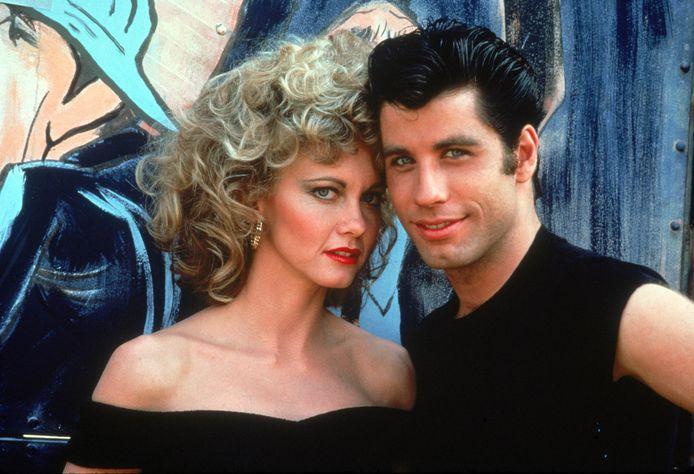 John Travolta (Danny) en Olivia Newton-John (Sandy)