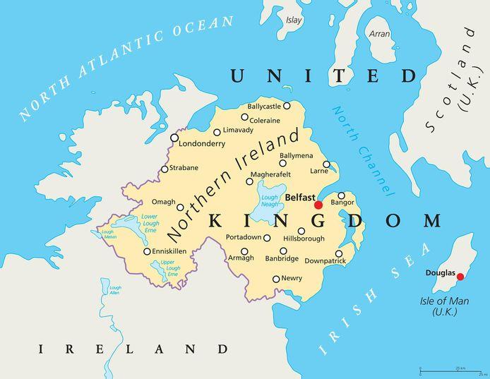 Noord-Ierland en haar grenzen.