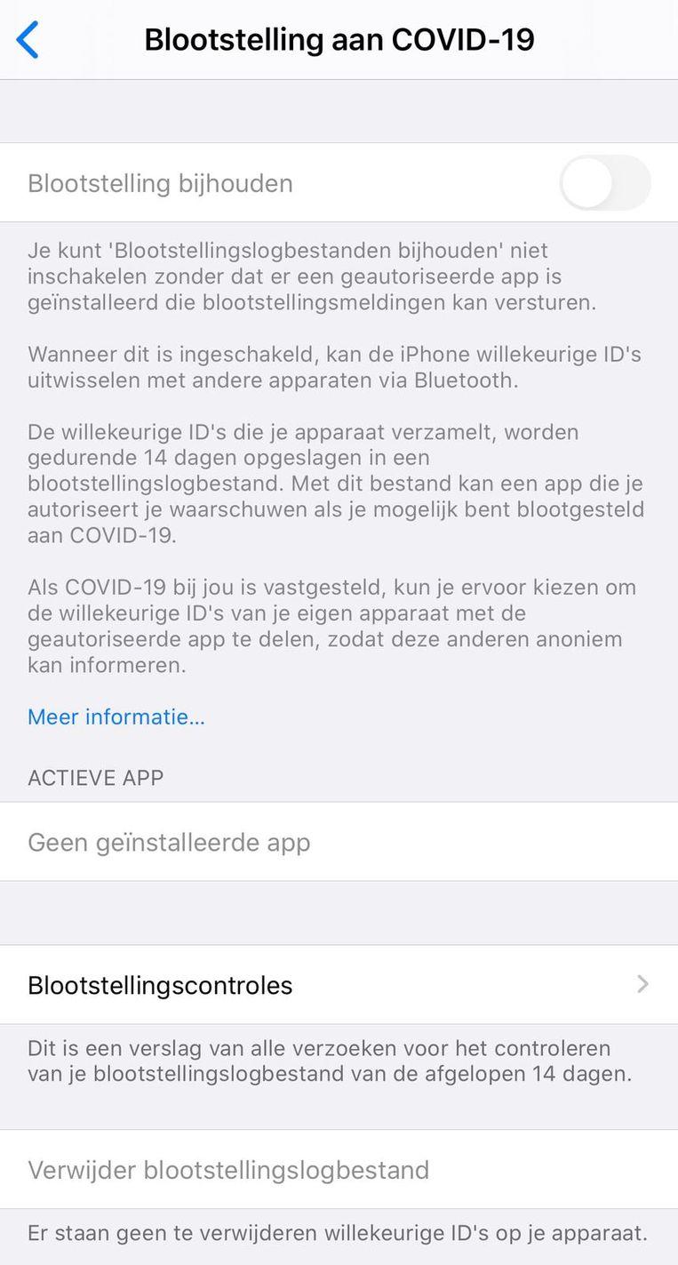De functie staat standaard uit op iOS.