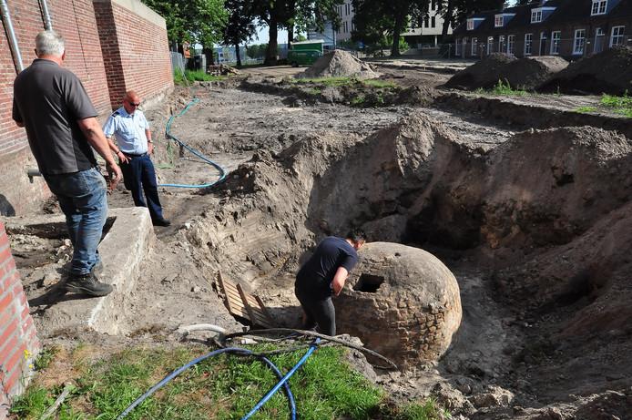 Waterput gevonden bij aanleg stadstuin Waalwijk