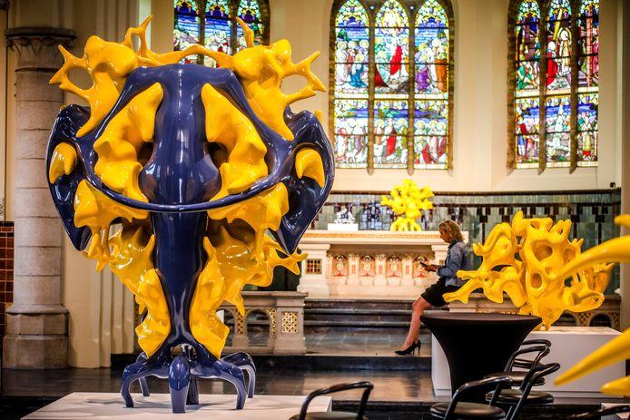 De kerk van St Pieters Kapelle wordt omgetoverd tot K.E.R.K, een project van Nick Ervinck.