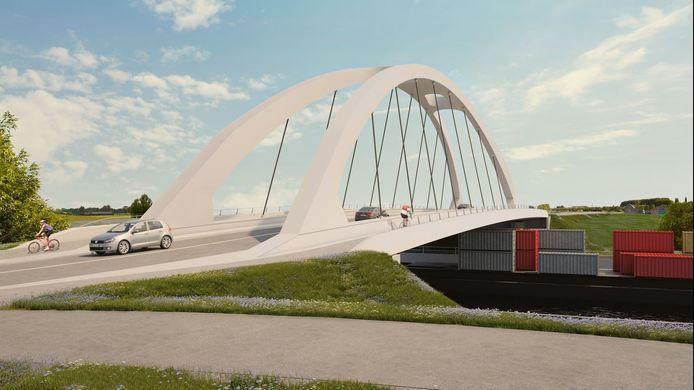 Een blik op de toekomstige nieuwe Leiebrug tussen Marke en Bissegem