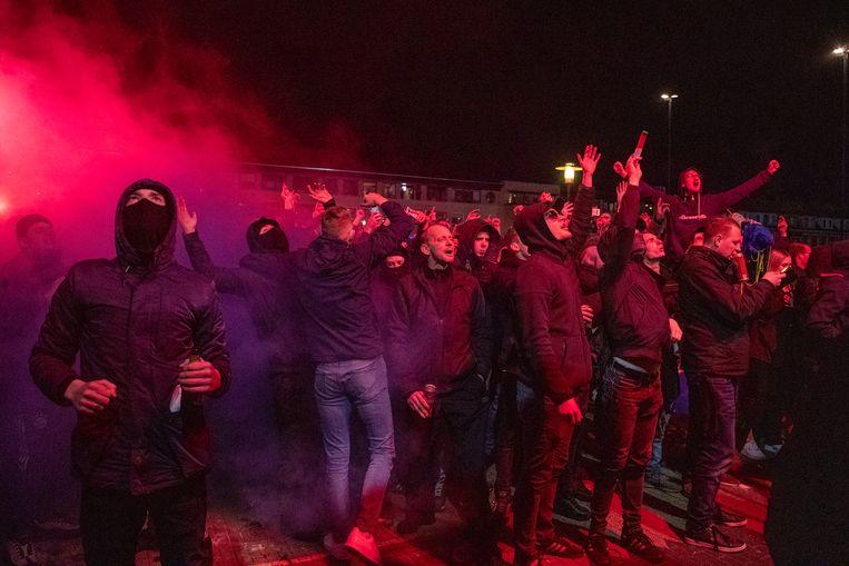Cambuurfans vieren de promotie naar de eredivisie. Beeld Pro Shots / Niels Boersema