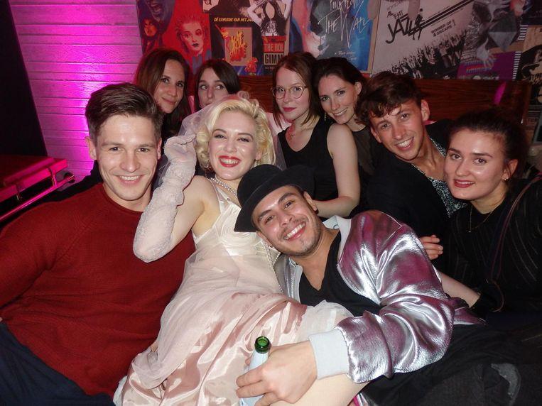 En ook bij de In bed with Madonna-sessie, met Fay Loren als middelpunt Beeld Schuim