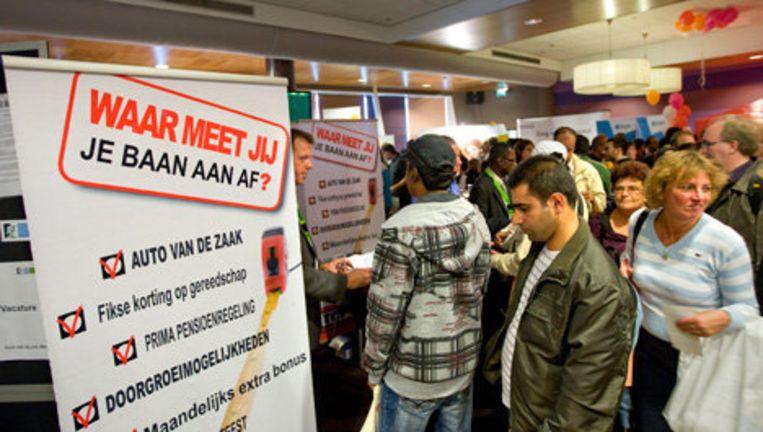 Drukte op de landelijke banenmarkt van UWV Werkbedrijf. Archieffoto ANP Beeld