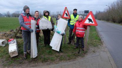 Vrijwilligers behoeden padden voor autobanden