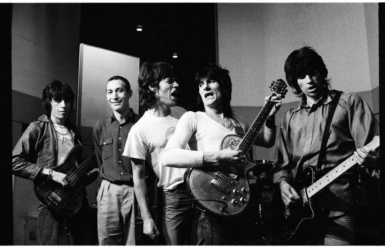 The Rolling Stones gefotografeerd door Helmut Newton Beeld