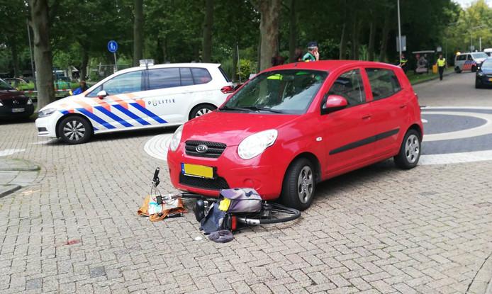 De vrouw raakte zwaargewond bij het ongeluk.