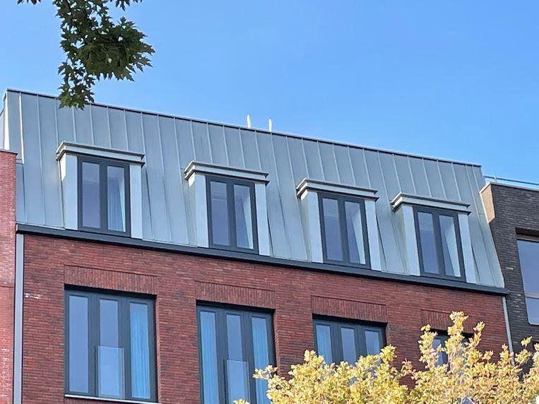 De moderne zinken daken boven op het Ibishotel. Beeld Floor van Spaendonck en Gijs Stork