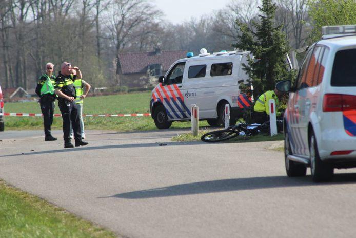 Beeld van het ongeval op 8 april 2020.