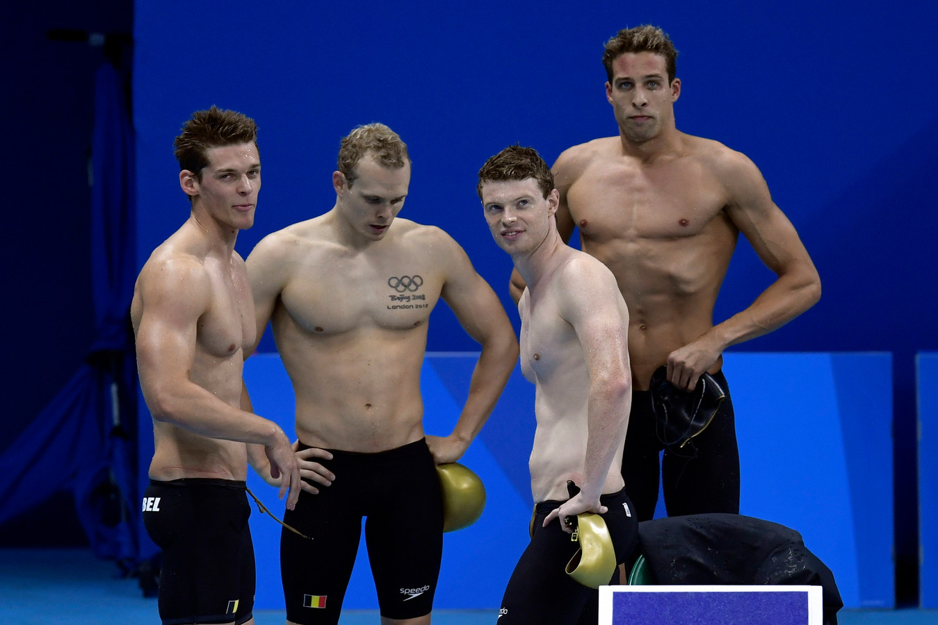 Dieter Dekoninck, Glenn Surgeloose, Louis Croenen en Pieter Timmers waren in Rio de Belgische aflossingsploeg op de 4x200m.