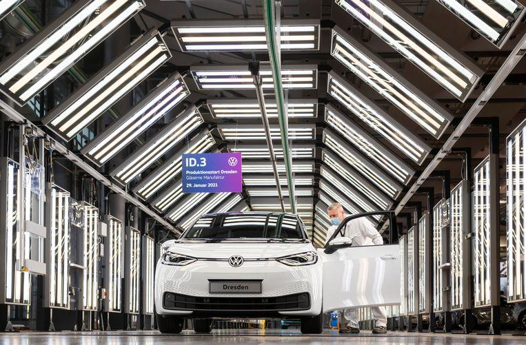 Volkswagen heeft alle pijlen gericht op volledig elektrische voertuigen als de ID.3. Beeld Matthias Rietschel