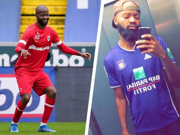 Lamkel Zé in het shirt van Antwerp en Anderlecht.