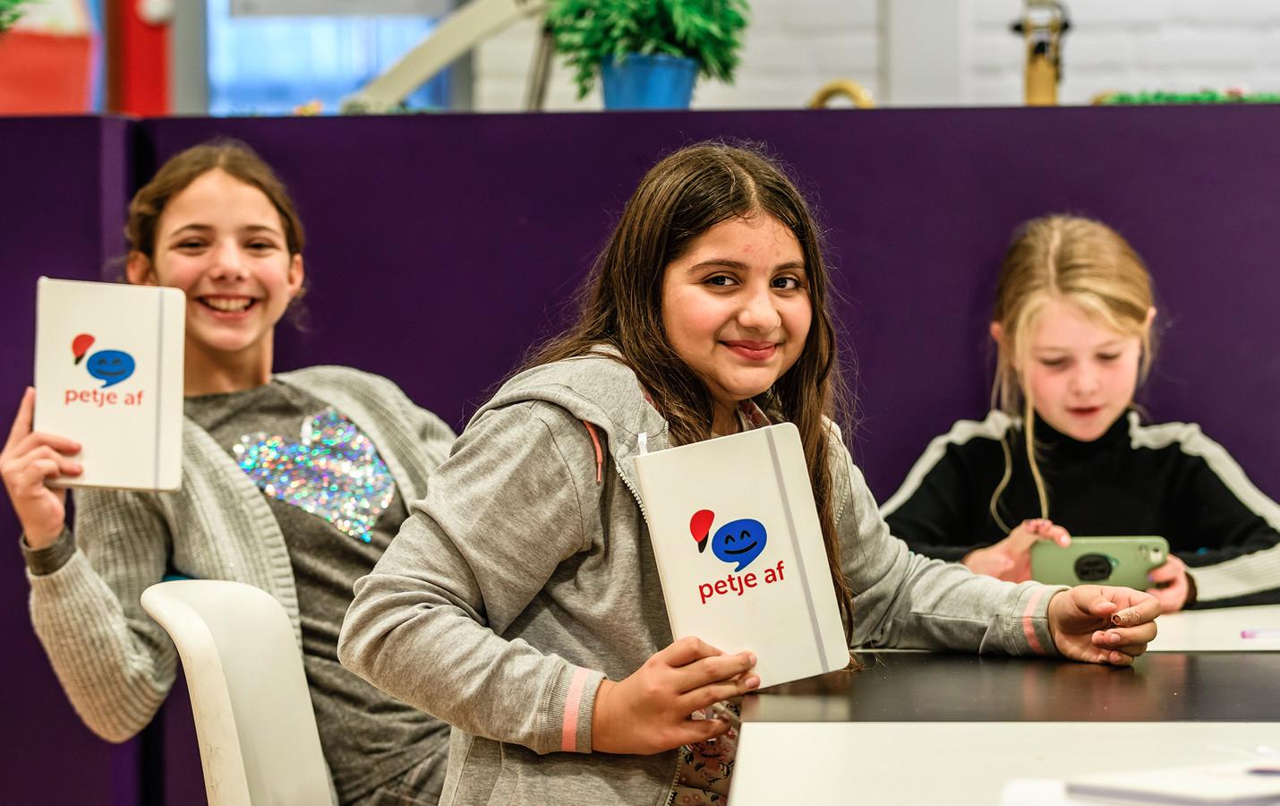 Kinderen tijdens een van de gastlessen van Petje Af in Breda.