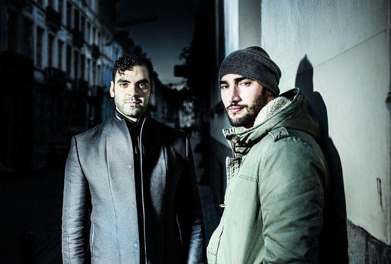 Adil El Arbi (links) en co-regisseur Bilall Fallah. Beeld Franky Verdickt