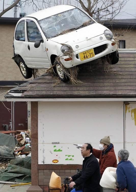 Hallucinante gevolgen van de tsunami.